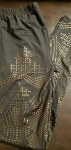 Pants - Authentic Icon Gold and Black Leggings